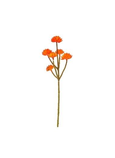 Warm Design Küçük Lotus Yapay Çiçeği Oranj